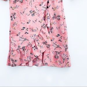 Topshop Dresses - Topshop Ruffled Floral Pink Dress